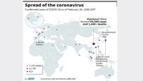 İşte korona virüsün haritası! Ülke ülke ölü ve enfekte sayısı