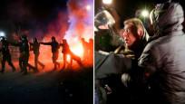 Ukrayna'da Vuhandan getirilenleri taşladılar