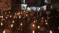 Bulgaristan'da ırkçılardan meşaleli yürüyüş