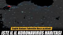 İşte Bakan Koca'nın paylaştığı il il korona yoğunluk haritası