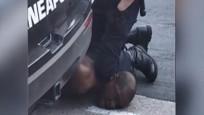 ABD'de polisin şüpheliyi boğarak öldürdüğü anlar kamerada