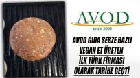 Gıda devi Avod Türkiye'nin ilk vegan etini üretti, tarihe geçti