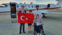 Türk hasta ambulans uçakla Norveç'ten getirildi