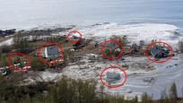 Norveç'te toprak kayması kamerada
