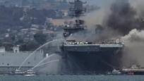 ABD, yangın yüzünden 1 milyar dolarlık gemiyi kaybedebilir