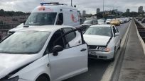 15 Temmuz Şehitler Köprüsü'nde 5 araç birbirine girdi