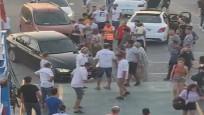Tekirdağ'da arabalı feribotta sıra kavgası cep telefonu kamerasında
