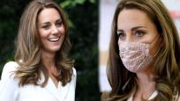 Kate Middleton ilk kez maske taktı