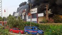 Manisa Saruhanlı'da fabrika yangını