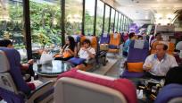 Uçak yemeklerini özleyenler için restoran açıldı