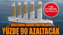 7 bin otomobil taşıma kapasitesine sahip yelkenli kargo gemisi tanıtıldı