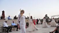 Kapadokya Fashion Week'de mankenler podyumda boy gösterdi