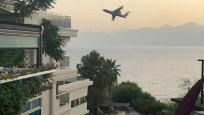 Antalya'da Rus pilottan tehlikeli hareketler