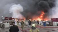 Tuzla'da fabrika bahçesinde yangını