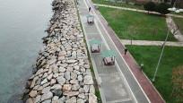 Kadıköy sahilinde tartışma yaratan çardaklar