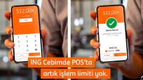 ING Türkiye'den Cebimde POS'ta temassız işlem limiti kaldırıldı