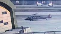 Sabiha Gökçen'deki helikopter kazasının güvenlik kamerası görüntüleri