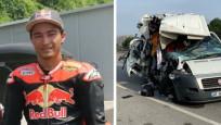 Milli sporcu trafik kazası geçirdi