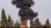 Lübnan'ın güneyindeki Zahrani petrol tesislerinde yangın