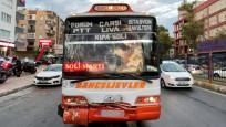 Özel halk otobüsü ile minibüs çarpıştı: 20 yaralı