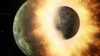 Çarpışma sonucu parçalanmış bir gezegen keşfedildi