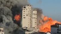 İsrail bu defa Gazze'deki medya binasını vurdu