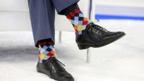 Çorapları NATO zirvesine damga vurdu!