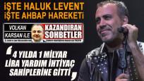 Haluk Levent: Pandemi mağduru sanatçılar için seferber olduk