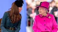 Kraliçe, Kate Middleton'ı geleceğin kraliçesi olarak görüyor