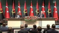 Erdoğan ile Laurenço ortak açıklama yapıyor