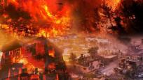 Manavgat'ta yangına havadan müdahale böyle görüntülendi