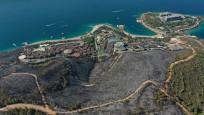 Alevler otele sıçramıştı... 80 hektar orman kül oldu!