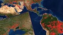 Fotoğrafları NASA paylaştı: Dünya alev alev yanıyor!