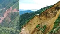 Hindistan'da toprak kayması: Yol çöktü