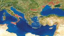 NASA'nın yangın haritasında Akdeniz alev alev
