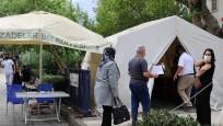 Mobil aşı istasyonları Manisa'nın aşı yüküne ortak oldu