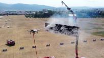 insansız yangın söndürme aracı TEKNOFEST'te tüm görevleri başardı