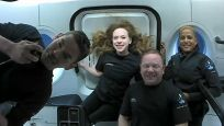 Yörüngedeki 'uzay turistlerinden' ilk görseller