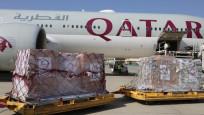 Katar'dan insani yardım taşıyan altıncı uçak Kabil'de
