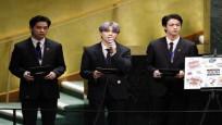 BTS grubu Birleşmiş Milletler Genel Kurulu'nda konuştu