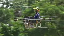 Bu drone insan taşıyor: Pilot koltuğu okul sandalyesinden