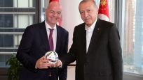 Erdoğan, FIFA Başkanı Infantino ile bir araya geldi