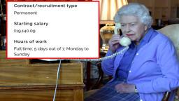 Kraliçe Elizabeth 200 bin lira maaşla yatılı temizlik personeli arıyor