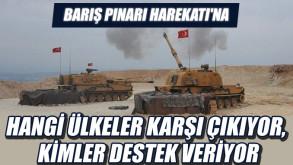 Barış Pınarı Harekatı'na hangi ülkeler karşı çıkıyor, kimler destek veriyor