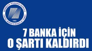 SPK, 7 banka için depo şartını kaldırdığını açıkladı
