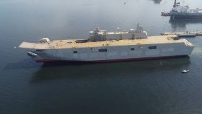 Türkiye'nin en büyük savaş gemisinde sona yaklaşıldı