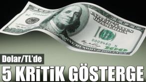 Dolar/TL'de 5 kritik gösterge