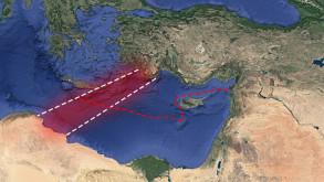 Libya deniz sınırı Dünya Atlası'nda