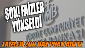 Merkez Bankası faizleri artırdı