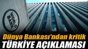 Dünya Bankası'ndan kritik Türkiye açıklaması: Önemli bir potansiyel bulunabilir